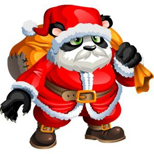 An image of Panda Claus in juvenile form