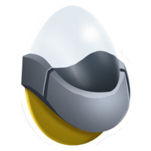 An image of iPug in egg form